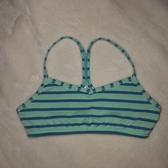 6ae3463c0e61b Ivivva Other - green and blue striped Ivivva sports bra-size 10